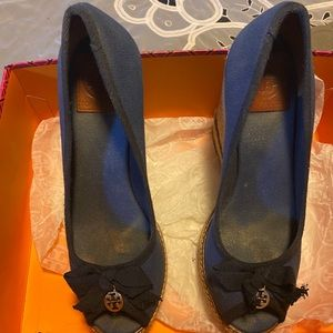 Tory Burch Jackie wedge pump.